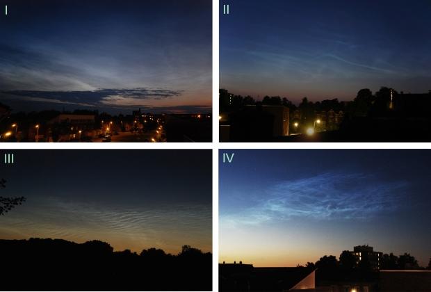 Basistypen lichtende nachtwolken