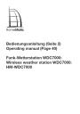Handleiding Home Matic WDC-7000