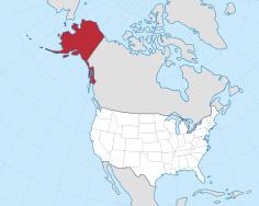 Kaart van Alaska