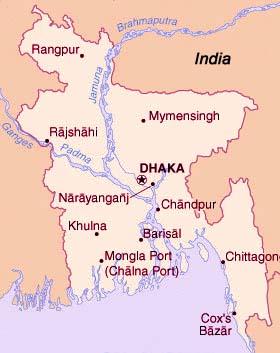 Kaart Bangladesh
