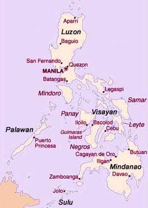 Kaart Filipijnen