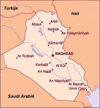 Kaart van Irak