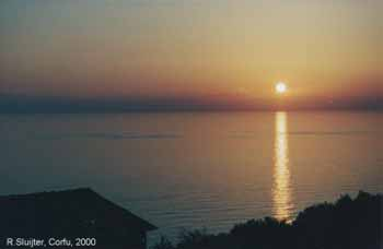 zonsondergang, Corfu (sluijter)