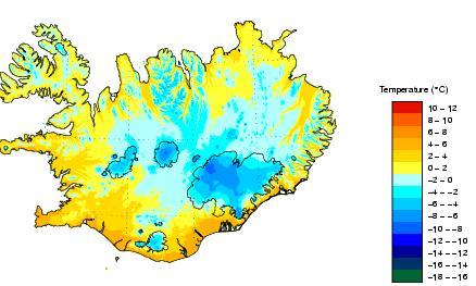 Temperatuur IJsland