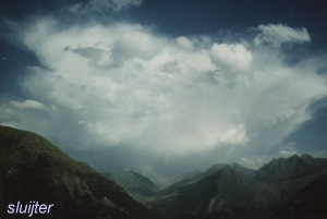 Onweersbui boven Pyreneeën