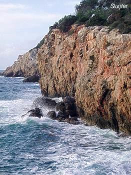 Rotskust nabij Gibraltar