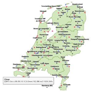 Actuele gegevens VWK Sylphide en KNMI stations