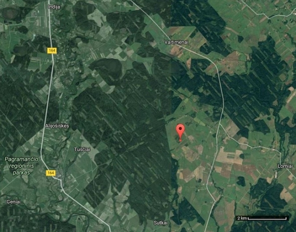 De landingsplaats in Litouwen