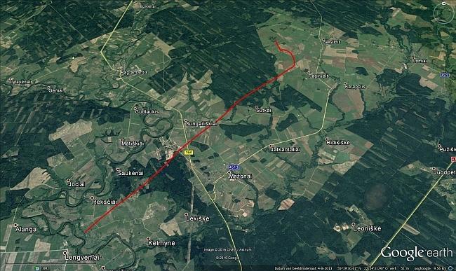 Het duidelijke GPS traject